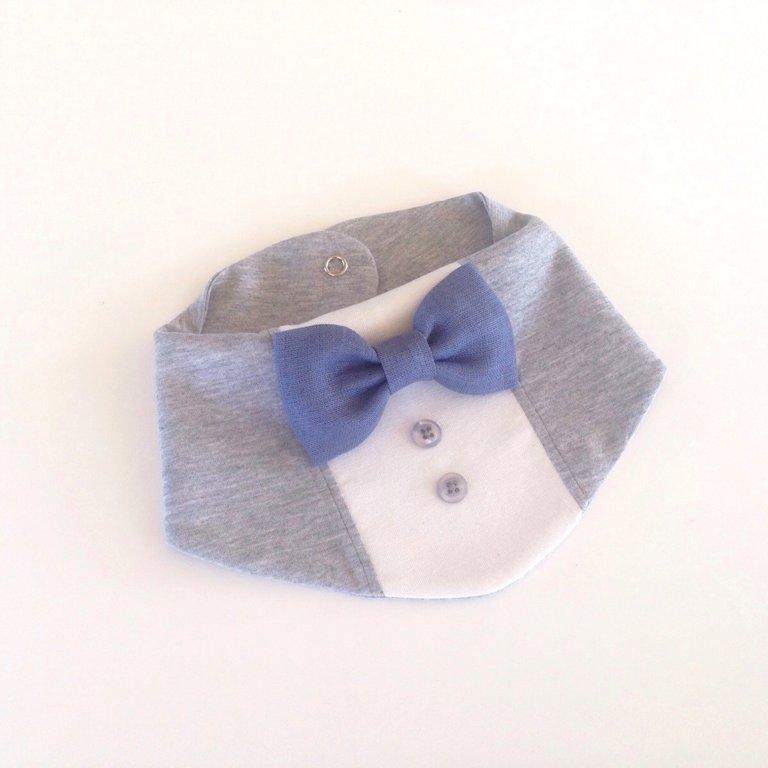 Ar pelēkzilu lina tauriņu