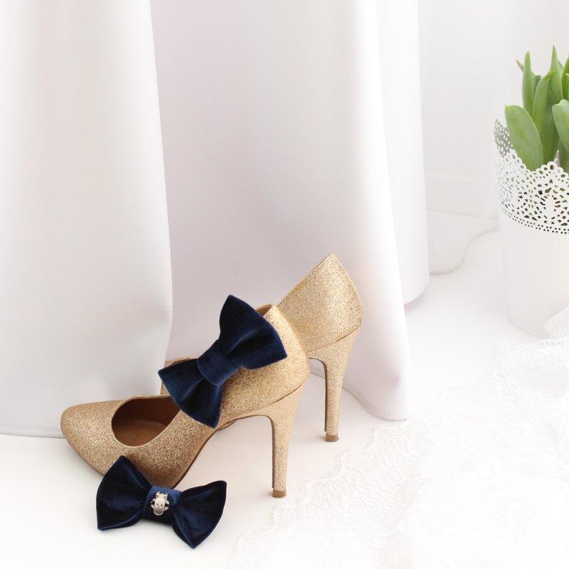 Samta tauriņi kurpēm (dažādas krāsas)