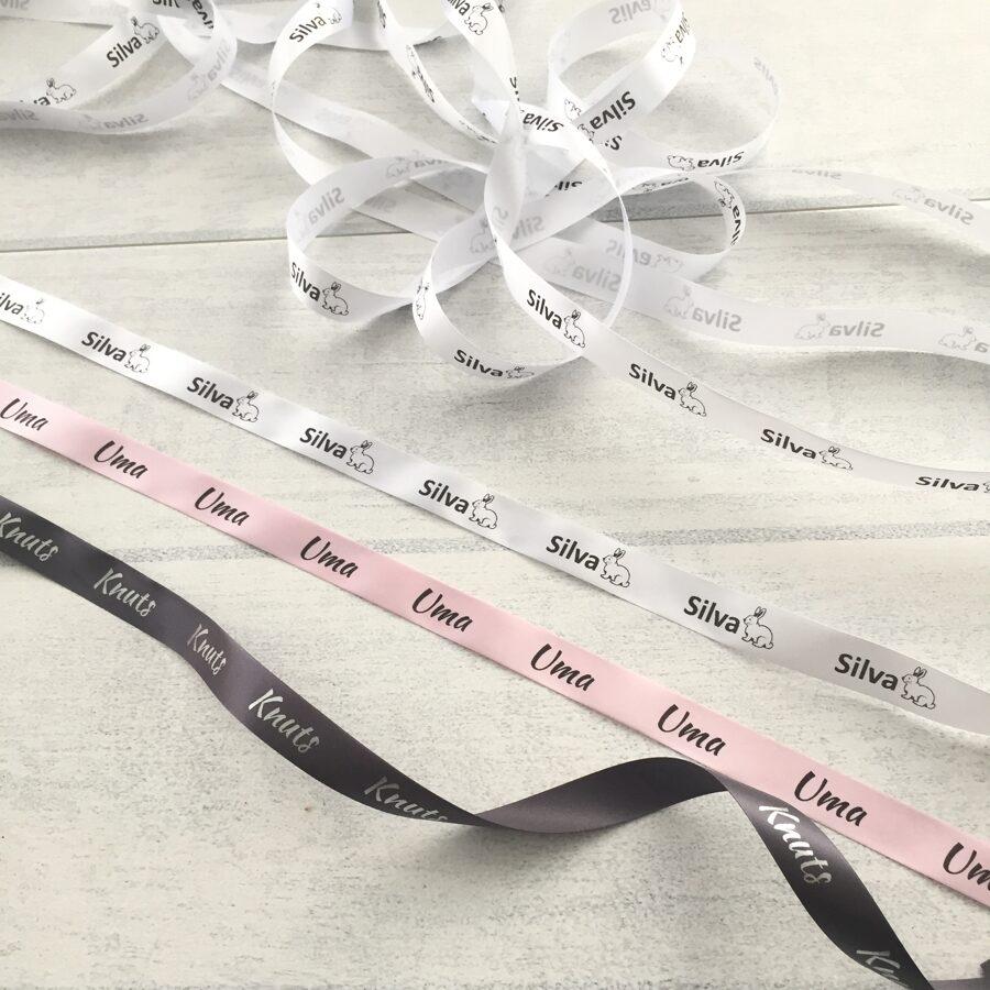 Baltas birkas ar personalizētu druku