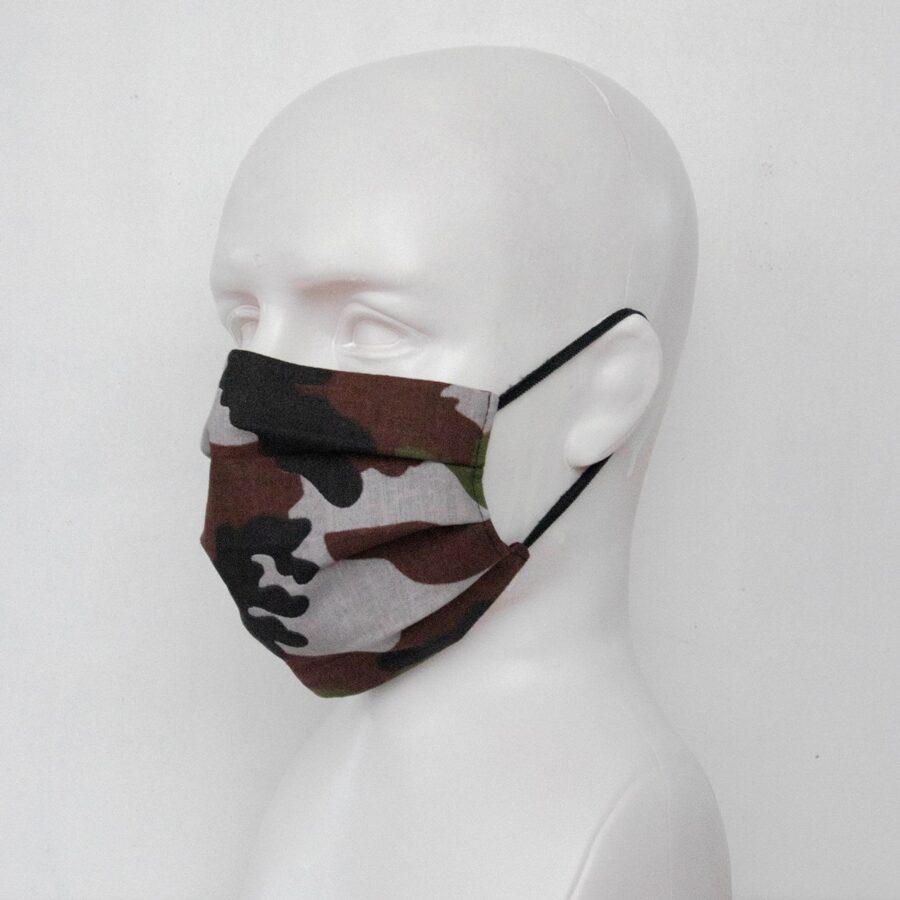 Zaļā kamuflāža- pieaugušo un bērnu sejas maskas