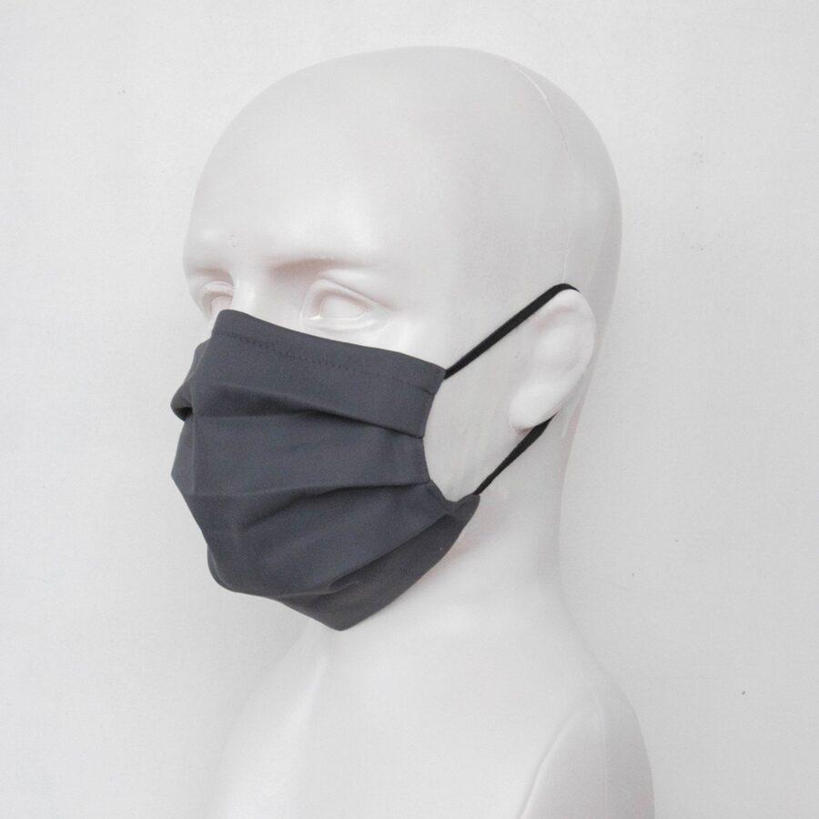 Pelēkas pieaugušo un bērnu sejas maskas (ar ielocēm)