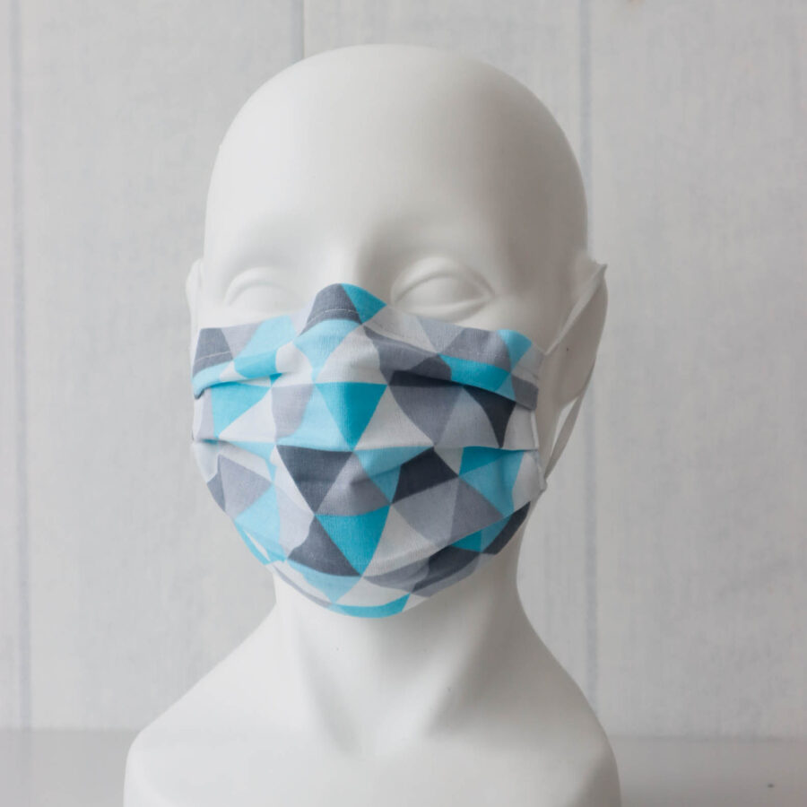Zilganā ģeometrija- pieaugušo/bērnu sejas maskas