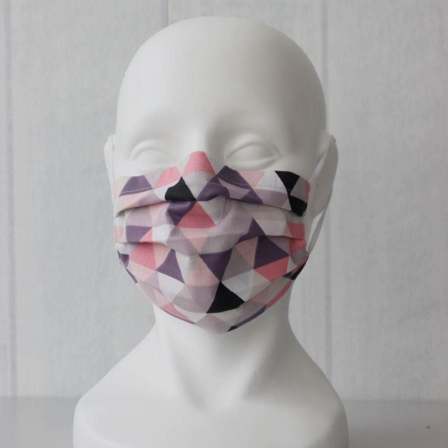Rozā ģeometrija- pieaugušo/bērnu sejas maska