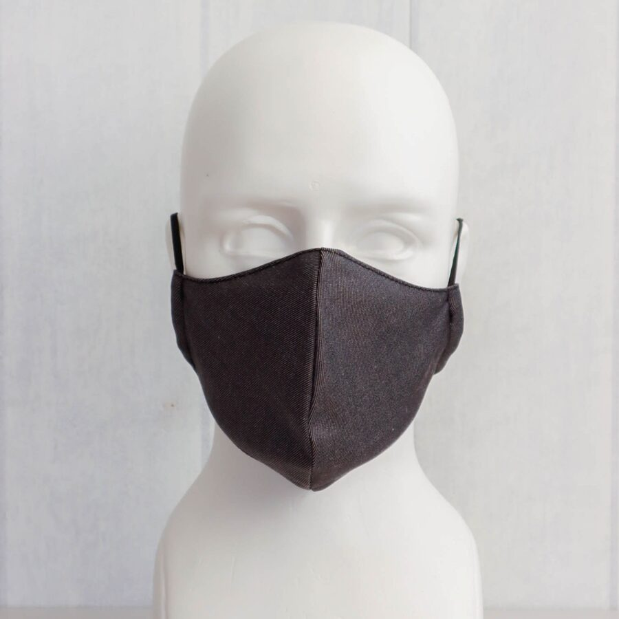 Pelēkas pieaugušo un bērnu sejas maskas (bez ielocēm)