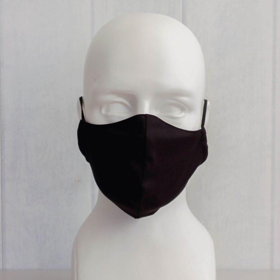 Melnas pieaugušo un bērnu sejas maskas (bez ielocēm)
