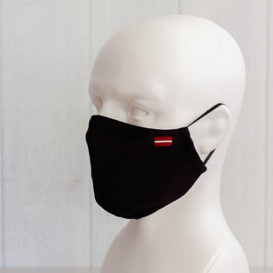 Melnas ar karodziņu- pieaugušo un bērnu sejas maskas (bez ielocēm)