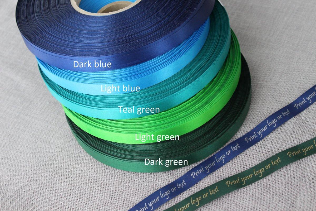 Zelta druka, zilie un zaļie toņi,  15 mm