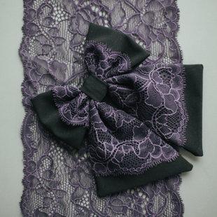 Melns ar violetu mežģīni
