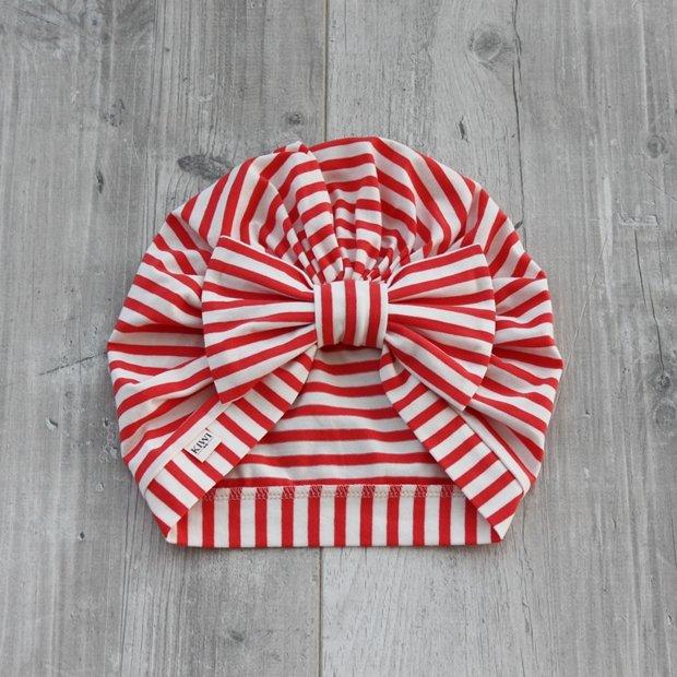 Svītraina turbāncepure (sarkana ar baltām svītriņām)