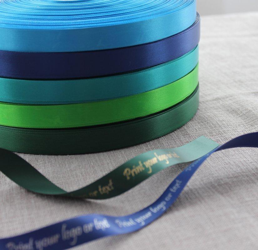 Sudraba druka, zilie un zaļie toņi, 15 mm