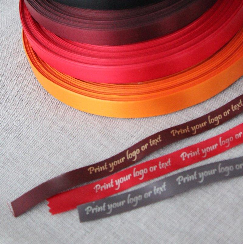 Sudraba druka, bordo, sarkana, oranža lenta, 15 mm