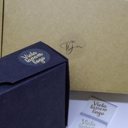 Caurspīdīgas uzlīmes ar zelta druku