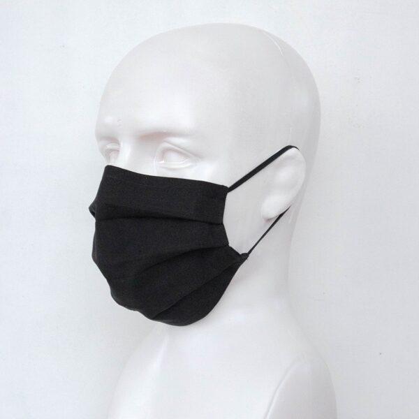 Melnas pieaugušo un bērnu sejas maskas (ar ielocēm)